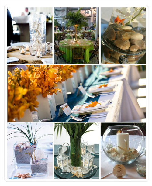 Wedding Party Decorations: Beach Bridal Shower Party Ideas